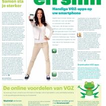 Gloedcommunicatie - coördinatie en productie krant Trias/VGZ insert Algemeen Dagblad Drechtstreken