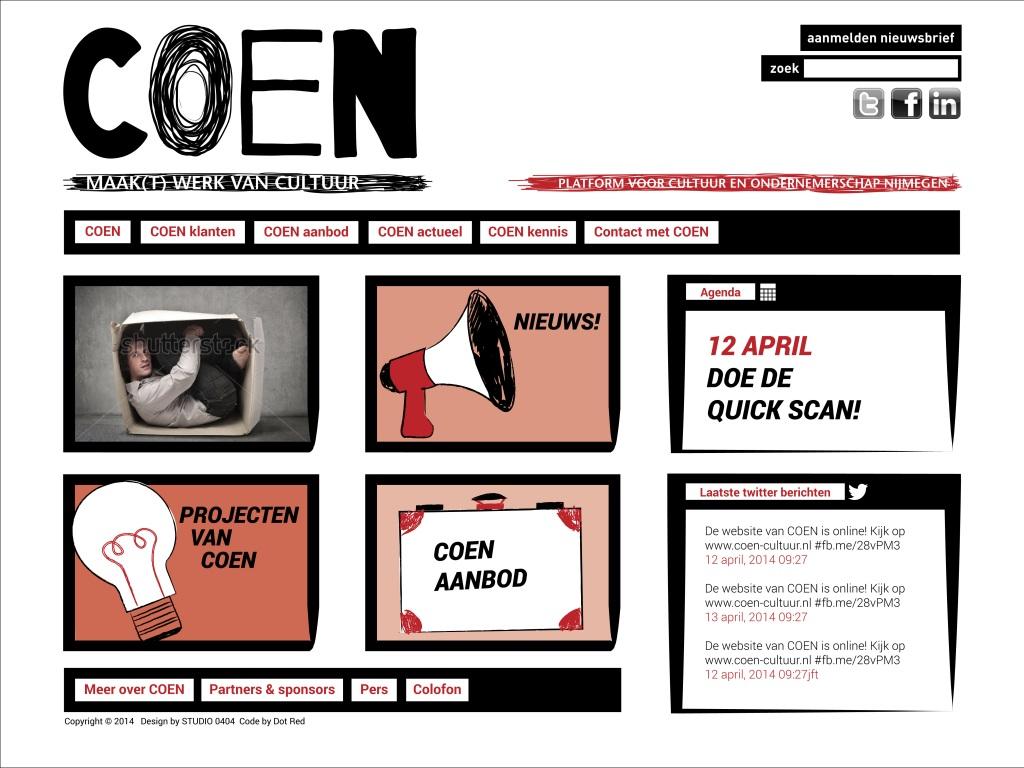 COEN cultuur website
